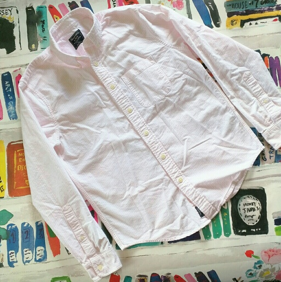 Abercrombie & Fitch Other - Abercrombie & Fitch Pink White Striped Shirt M